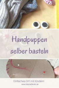 Handpuppen selber basteln MamaDenkt pin
