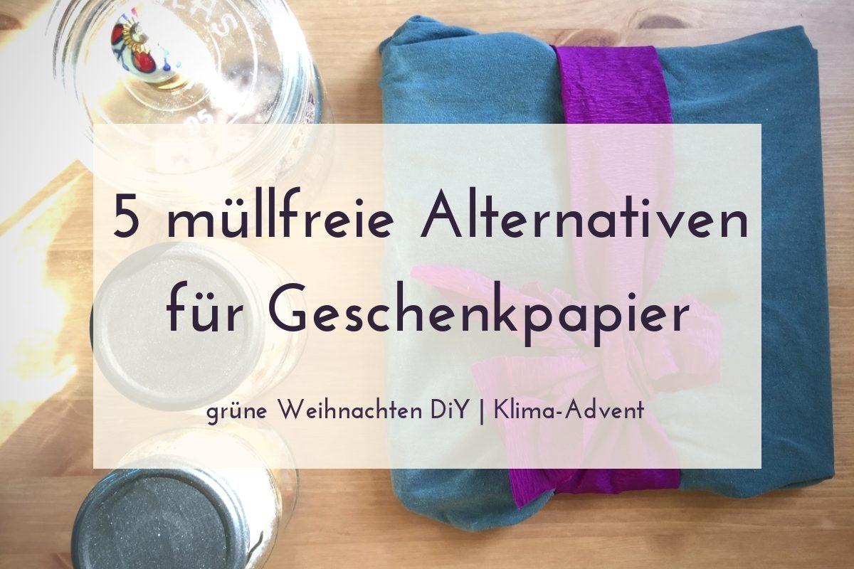 müllfreie Alternativen für Geschenkpapier an Weihnachten 01